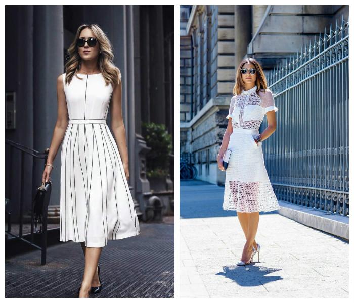 Белое летнее платье, фото