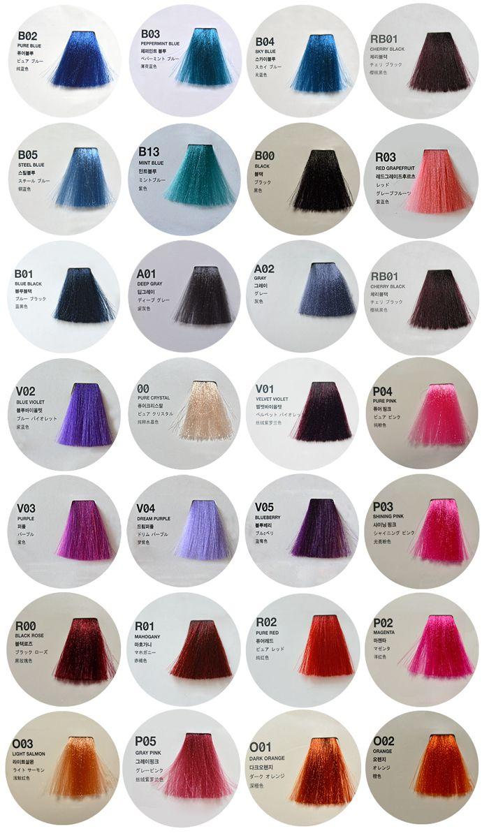 Палитра цветов краски для волос Anthocyanin Second Edition