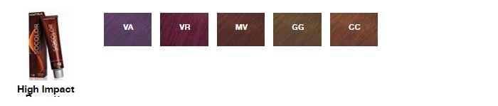 Палитра цветов краски для волос Matrix серии High Impact Brunette