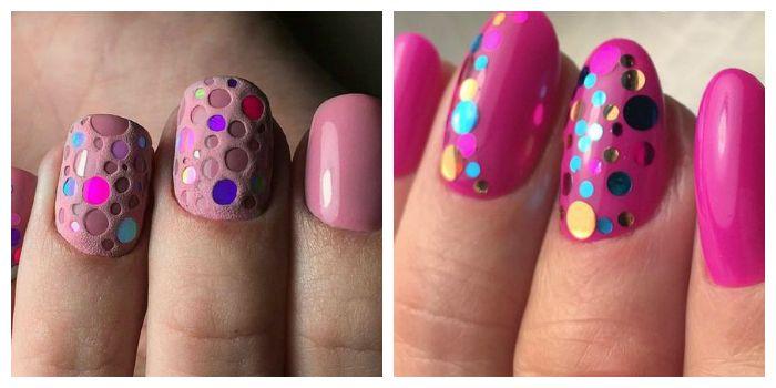 Дизайн ногтей камифубуки с розовым гель-лаком