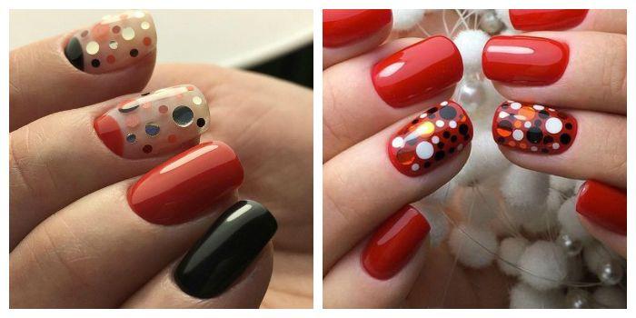 Дизайн ногтей камифубуки с красным гель-лаком