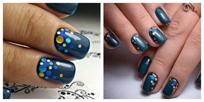 Дизайн ногтей камифубуки с гель-лаком цвета морской волны
