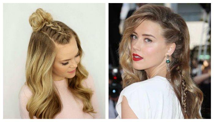Стильные косички на средние волосы
