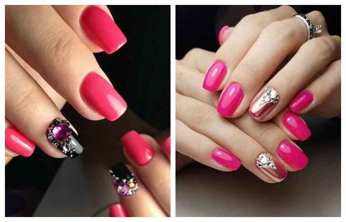 Модные цвета маникюра - розовый