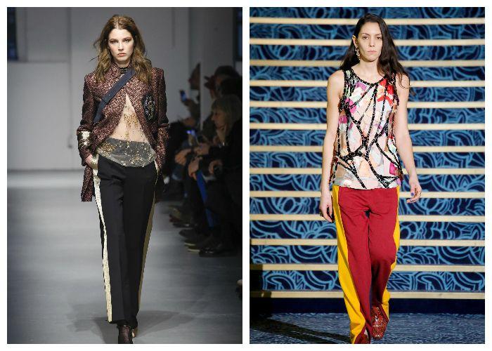 Мода 2017 на брюки с лампасами