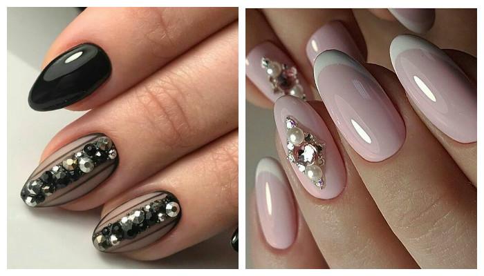 Декор ногтей стразами