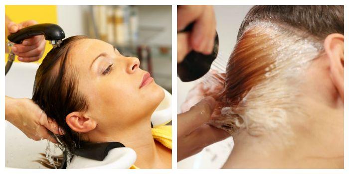 Профессиональная смывка краски с волос