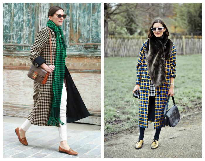 Street style модные пальто осень-зима 2017-2018, коллекция фото