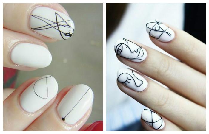 Дизайн на белом лаке