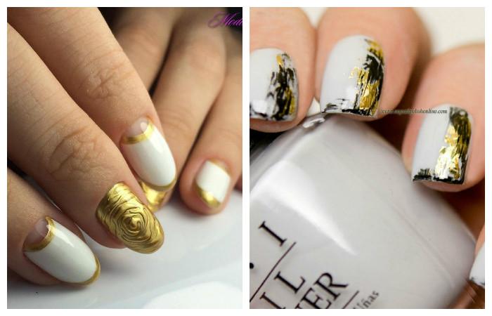 Дизайн белый с золотым