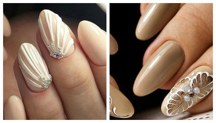 Дизайн ногтей с бежевым гель-лаком