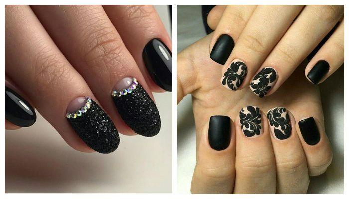 Черные ногти своими руками 188