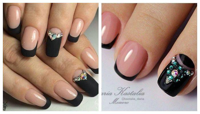 Дизайн ногтей на темном фоне