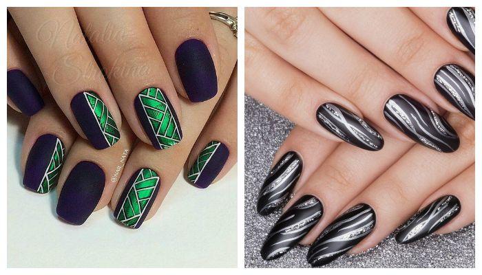 Дизайн ногтей с черным гель-лаком