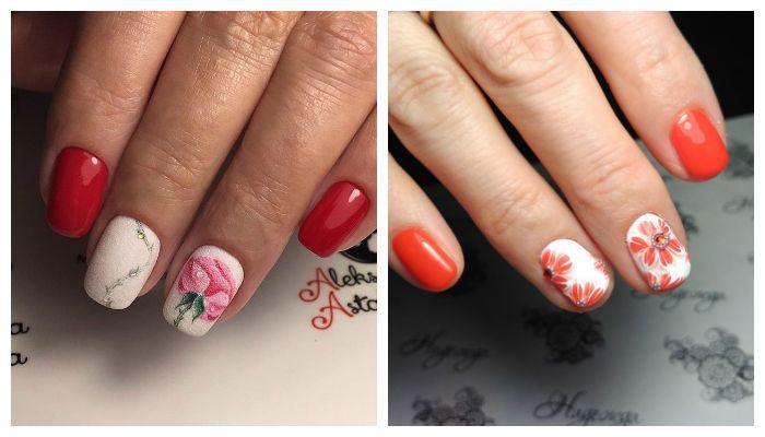 Дизайн ногтей с рисунком цветы