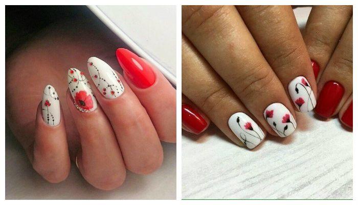 Дизайн ногтей со цветами