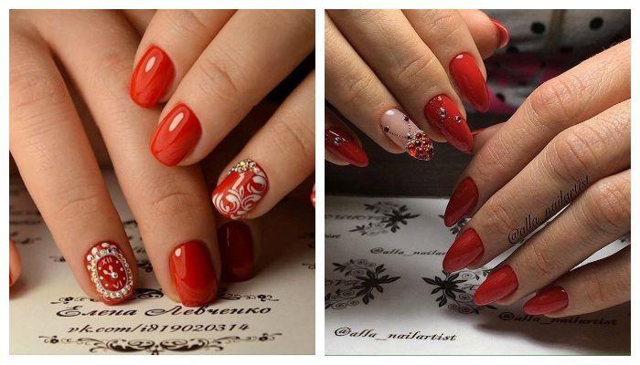 Идеи дизайна ногтей с красным-гель-лаком