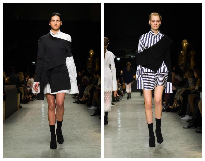 Модная асимметрия. Показ Burberry 2017-2018