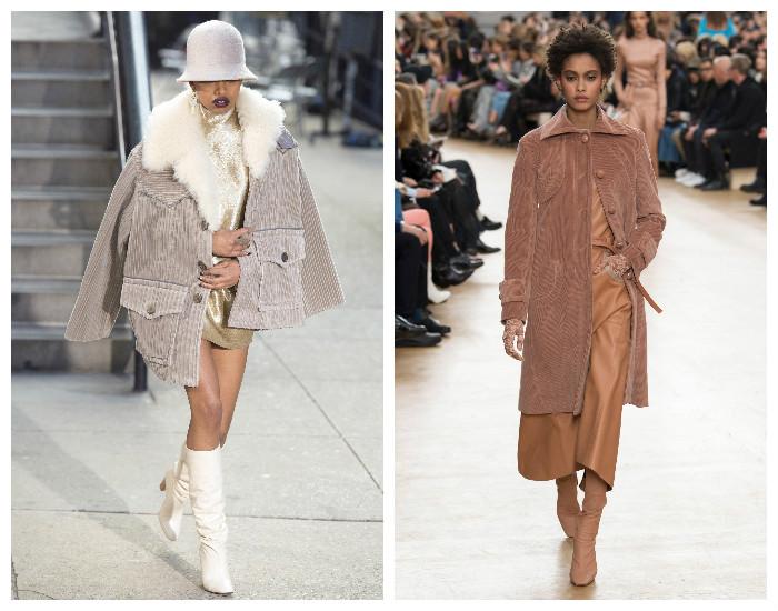 Модная верхняя одежда осень-зима 2017-2018. Вельветовое пальто.