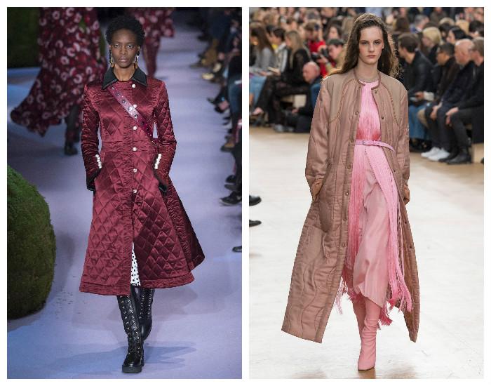 Модная верхняя одежда осень-зима 2017-2018. Стеганное пальто.
