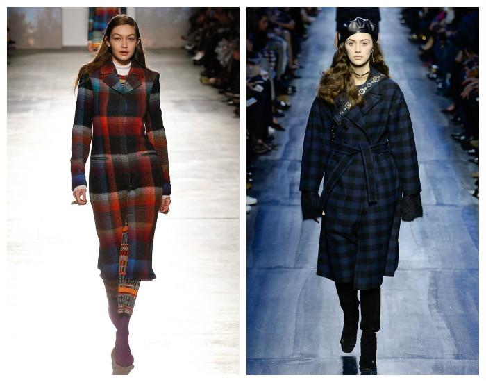 Модная верхняя одежда осень-зима 2017-2018. Пальто в клетку.