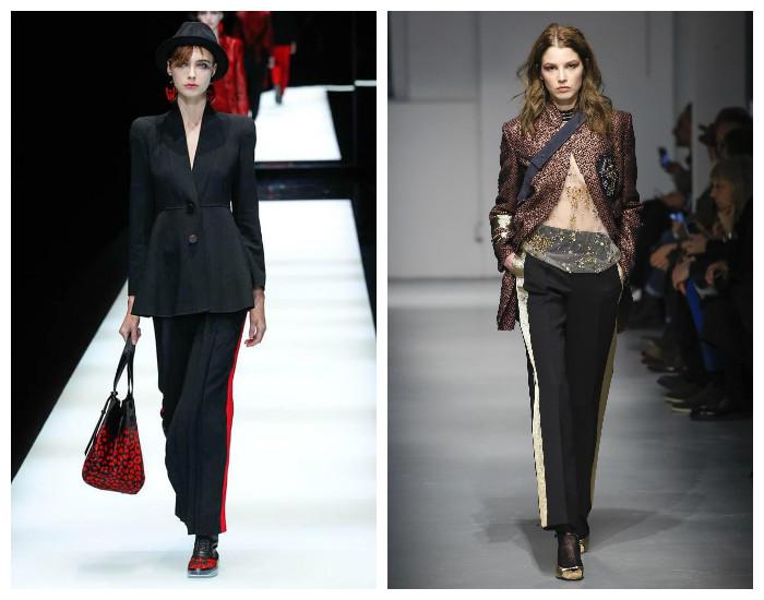 Модный тренд 2017-2018 года. Брюки с лампасами