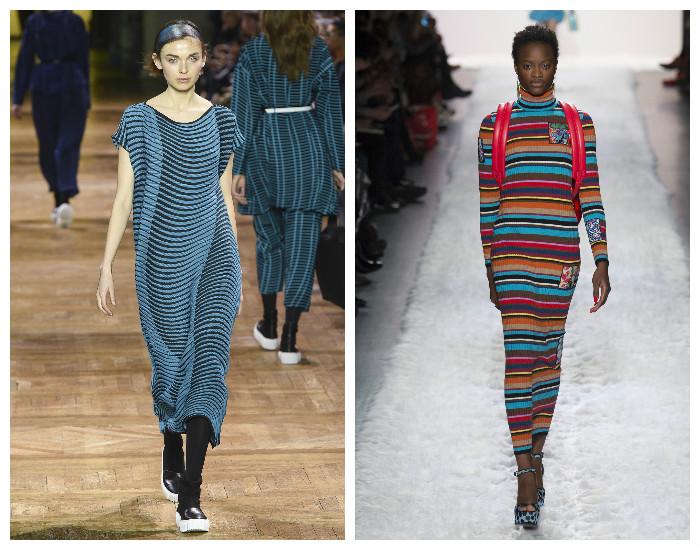 Удлиненные модные платья