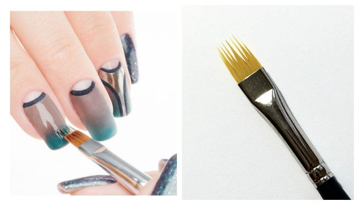 Пошаговое фото: Как сделать маникюра омбре кистью
