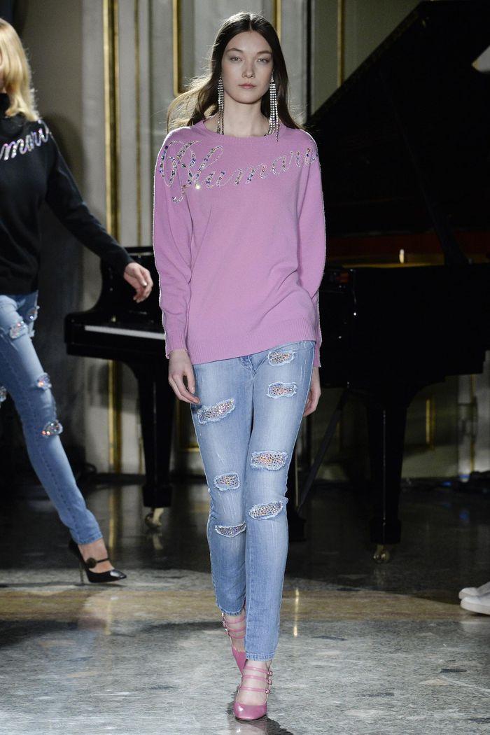 Модные джинсы коллекция осень-зима 2017-2018 Blumarine