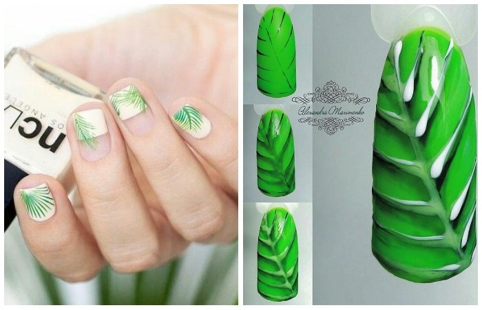 Модный дизайн ногтей лето 2017 - ботаника, пошаговое фото