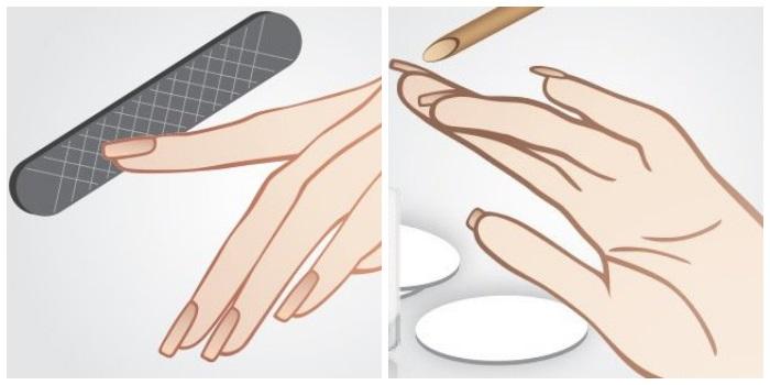 1 этап маникюра: подготовка ногтей к нанесению шеллака