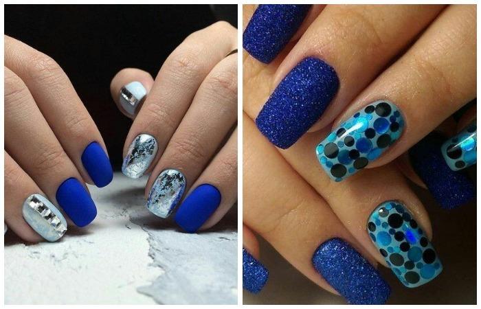 Зимний дизайн ногтей шеллаком