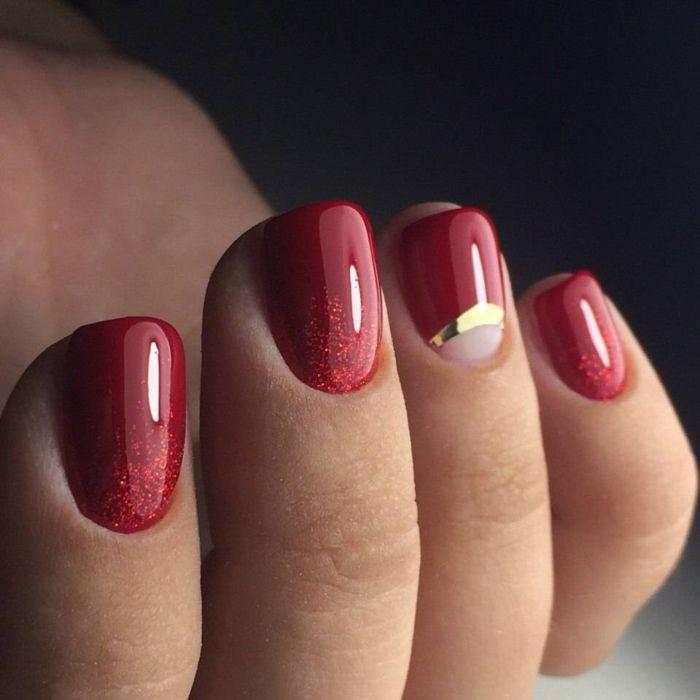 Маникюр на короткие ногти с покрытием шеллак: фото 2017 года