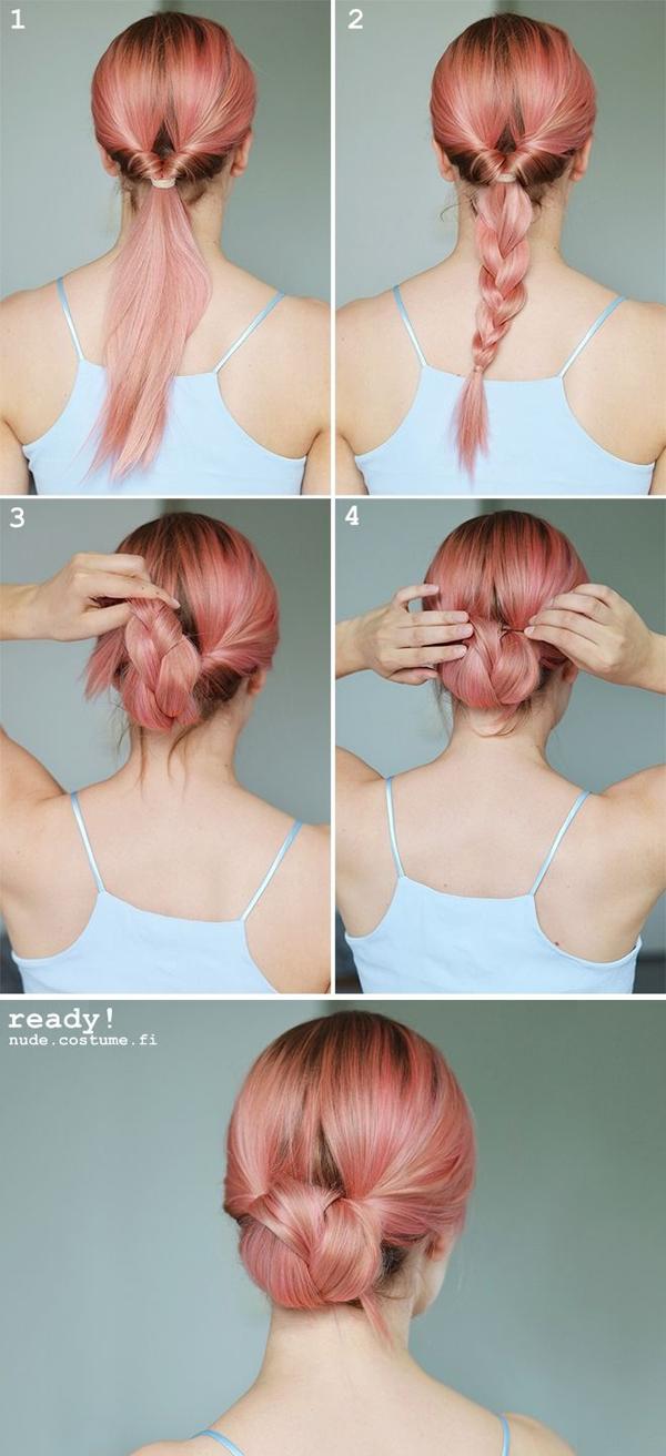 Как сделать красивую шишку из косы без бублика: пошаговая инструкция