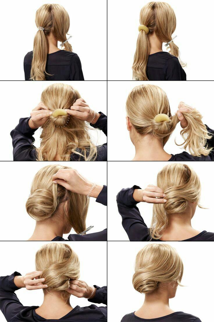 Легкие прически для волос средней длины своими руками 852