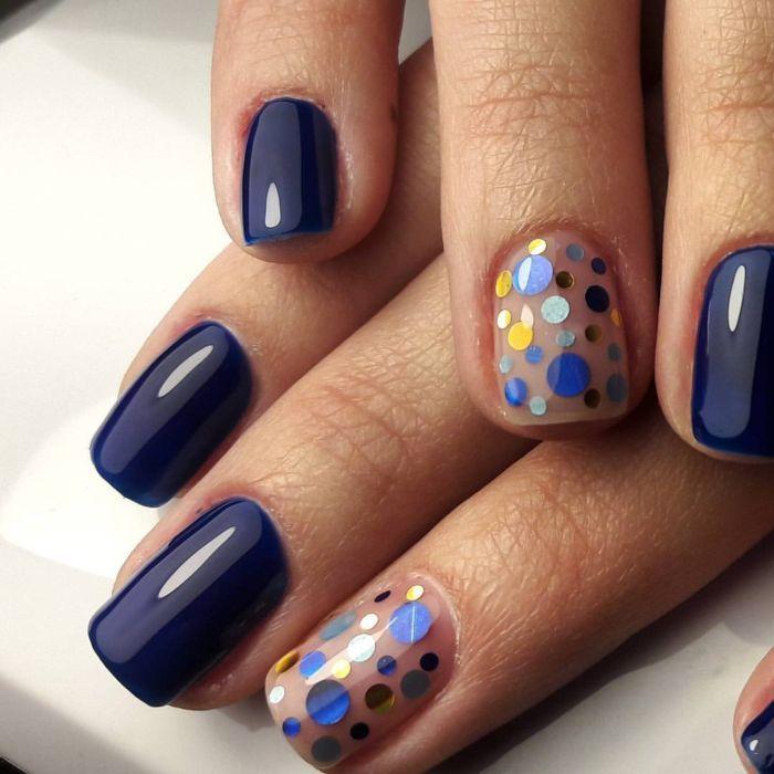 Несложный дизайн ногтей гель лаком с камифубуки, фото