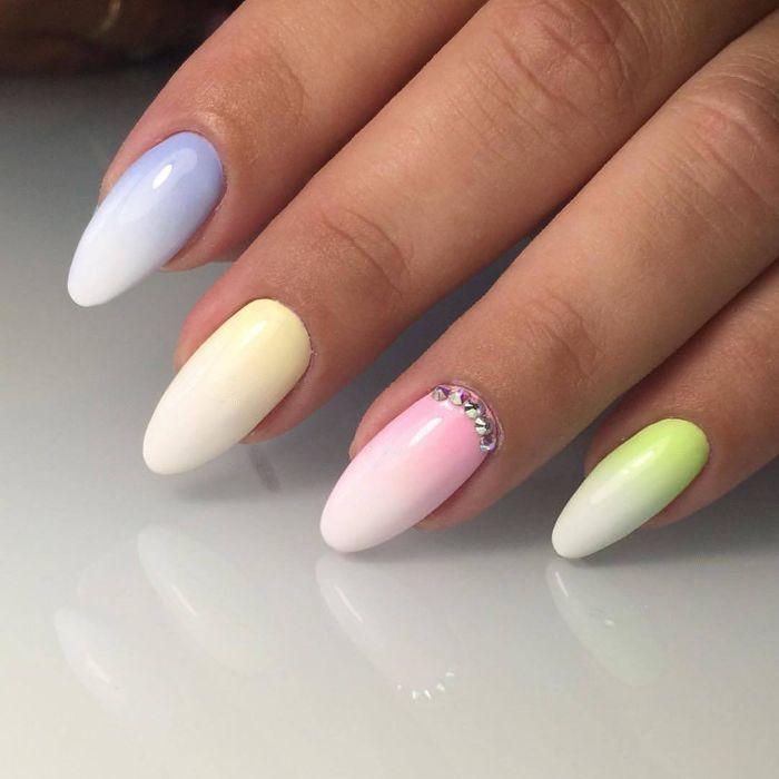 Несложный дизайн ногтей омбре гель лаком, фото