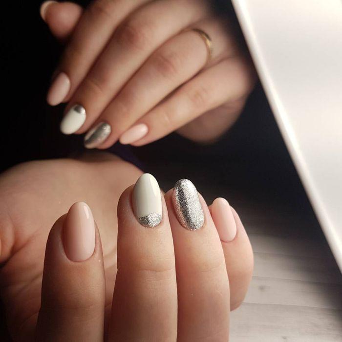 Несложный дизайн ногтей гель лаком с втиркой, фото