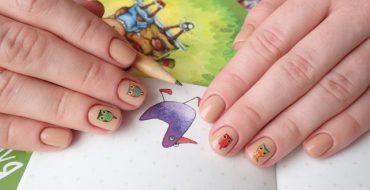 Несложный дизайн ногтей гель-лаком для начинающих фото