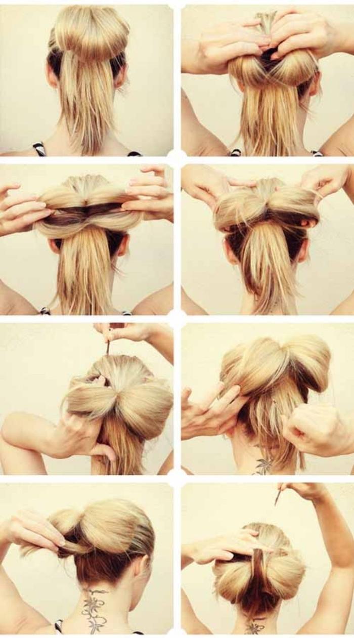 Прическа с бантом из длинных волос: инструкция по выполнению
