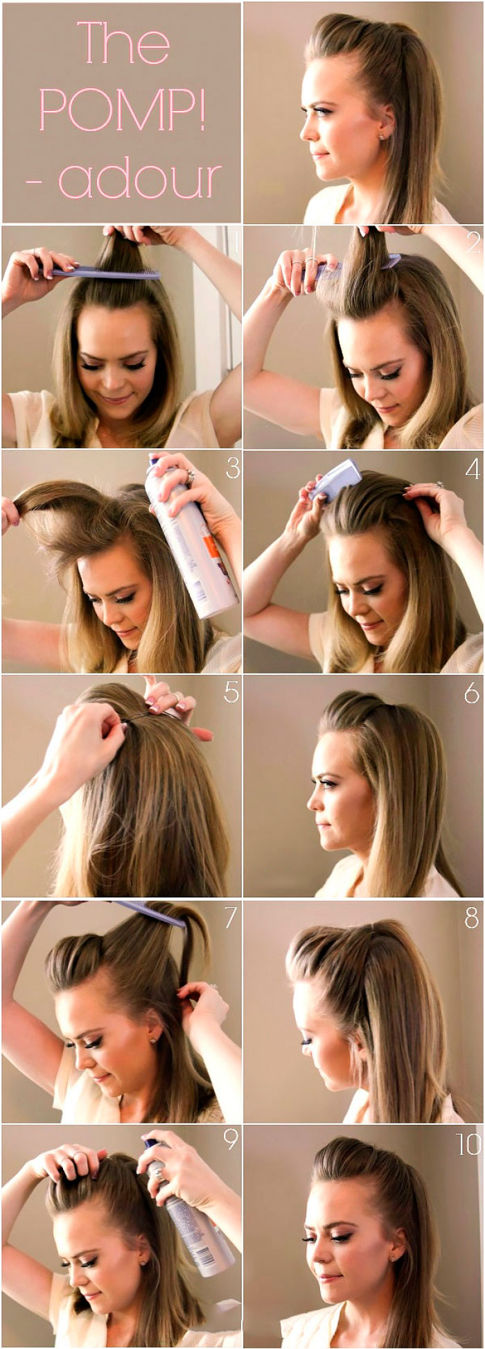 Пошаговая инструкция по выполнению вечерней объемной прически на длинные волосы