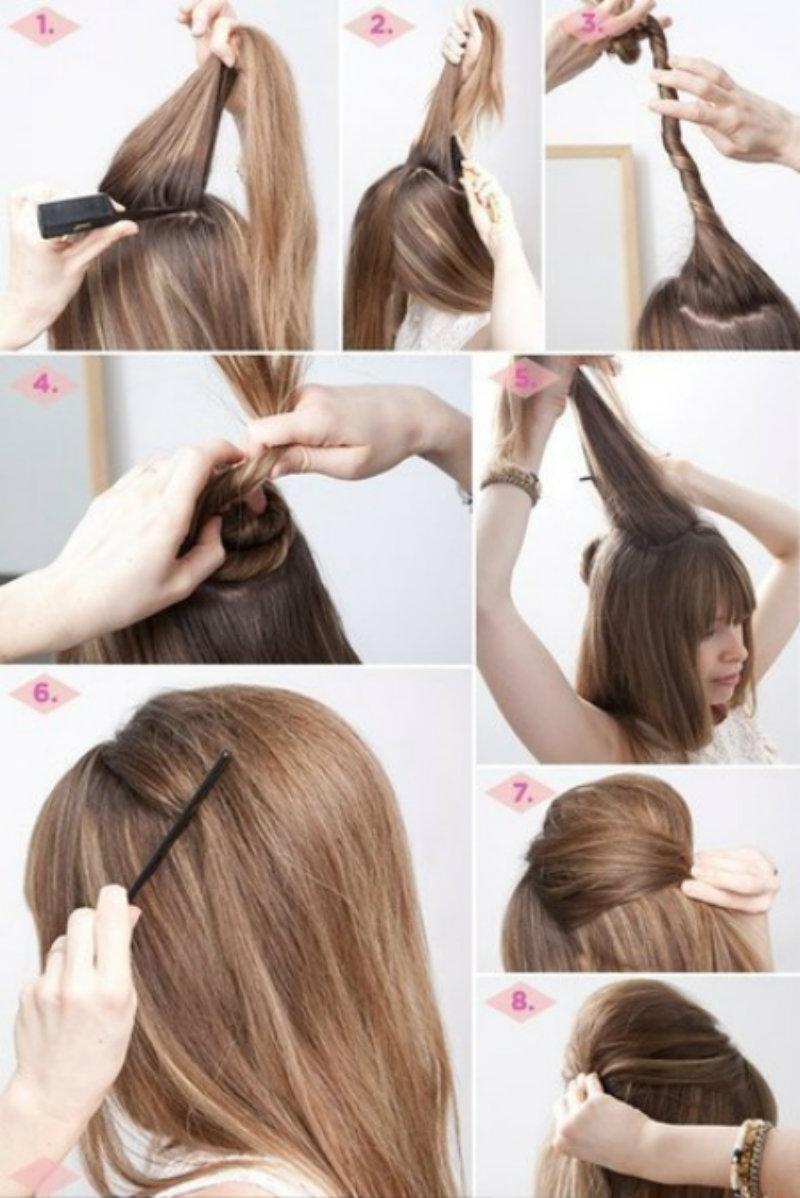 Быстрые прически на длинные волосы на каждый день своими руками пошагово