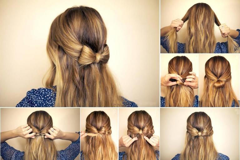 Бантик из средних волос для начинающих: пошаговая инструкция с фото