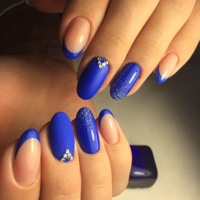 Синий френч