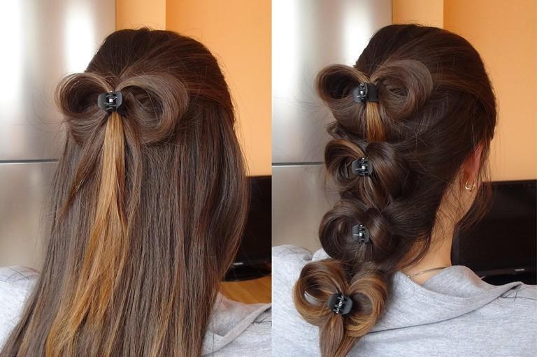 Прическа на длинные волосы для девочек 8 и 9 класс на 1 сентября