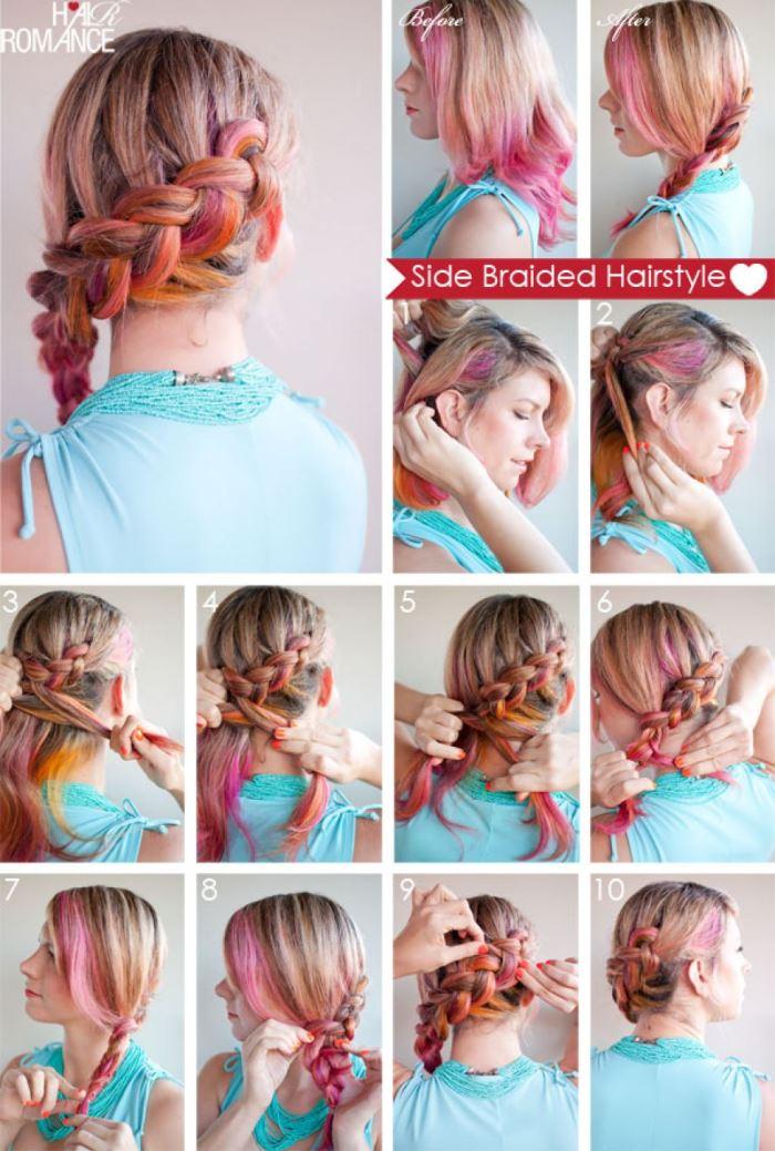 Прическа на средние волосы для девочек 10 и 11 класс на 1 сентября