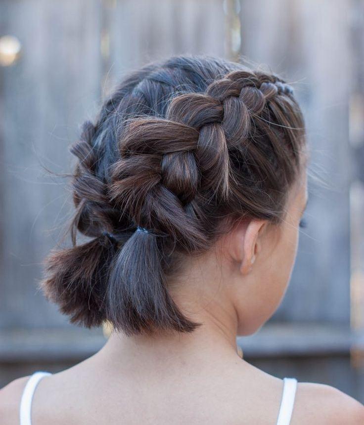 Две косы на короткие волосы