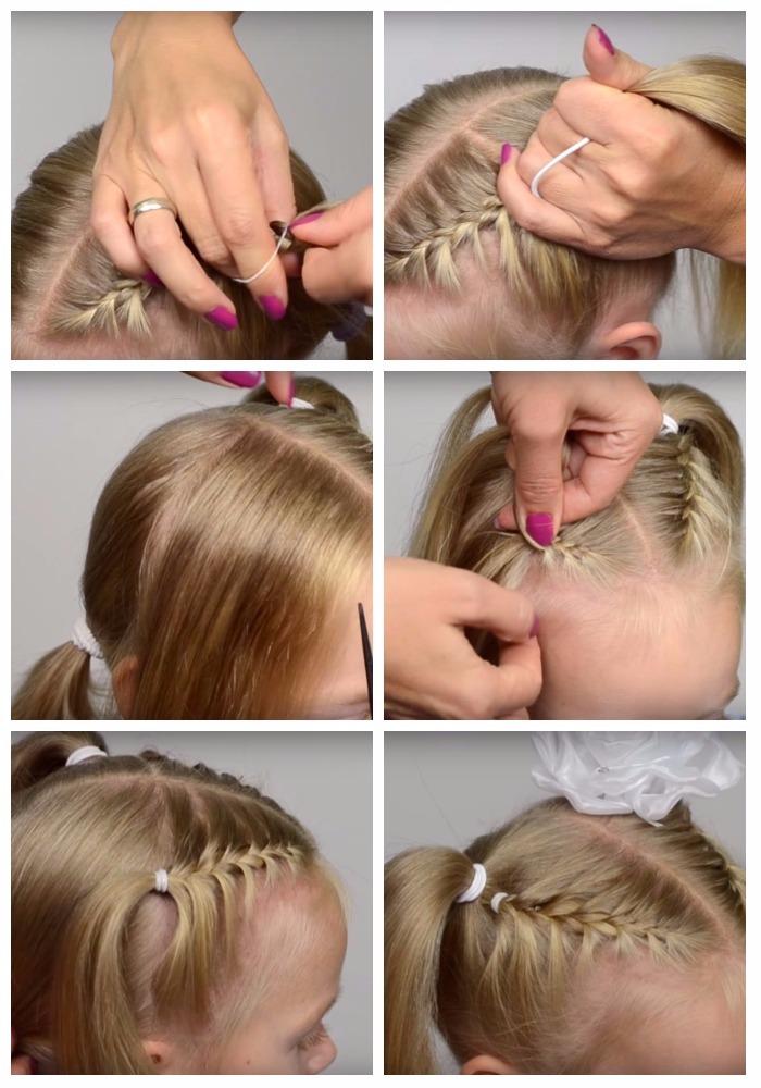 Прическа для девочки 1 класс на 1 сентября:  пошаговая инструкция с фото