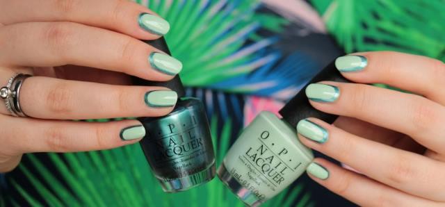 green-nails-02 Зеленый маникюр: 80 фото новинок