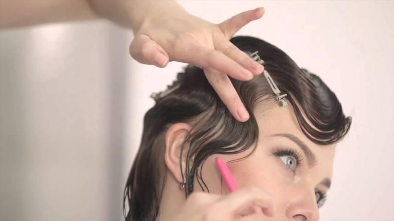 Как сделать прическу на короткие волосы с холодной волной